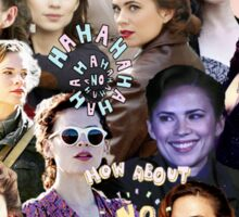Hayley Atwell Collage Sticker
