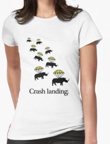 Crash Landing Womens Fitted T-Shirt