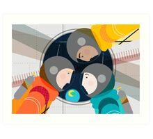 Astronauts in Space Art Print