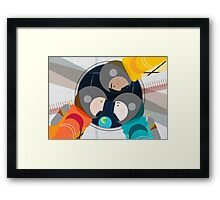 Astronauts in Space Framed Print