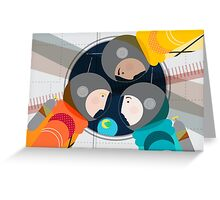 Astronauts in Space Greeting Card