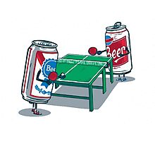 Beer Pong Photographic Print