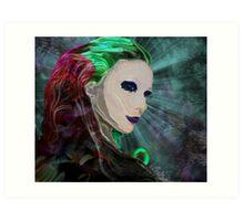 Green Wisp Art Print