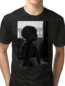toddler silhouette Tri-blend T-Shirt