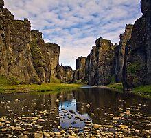 River gorge Fjadrargljufur in Iceland by Marketa Kalvachova