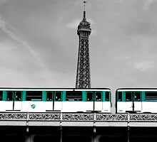 Eiffel Tower and Train  by DiamondCactus