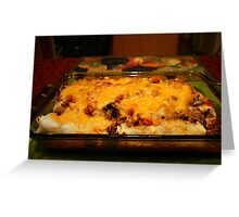 Real Mexican Enchiladas Greeting Card