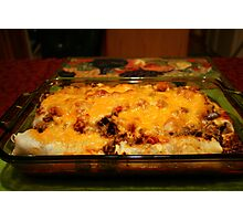 Real Mexican Enchiladas Photographic Print