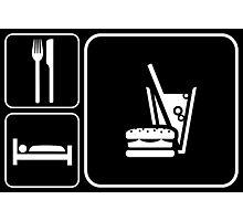 Food Sleep Fast Food Photographic Print