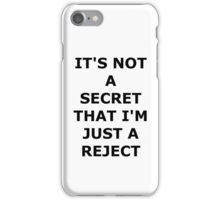 'It's not a secret that I'm just a reject' 5SOS Rejects Lyrics iPhone Case/Skin