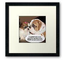 English Bulldog Humor Framed Print