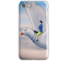 Flying Pigeon Rider iPhone Case/Skin