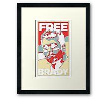 Free Tom Brady  Framed Print