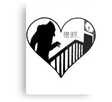 Too Late Metal Print