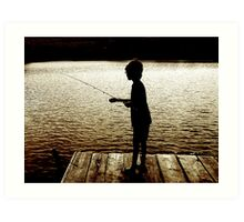 Boy Fishing Art Print