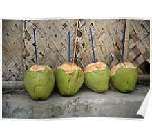 Coconut drinks Poster