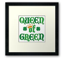 Queen of Green Framed Print