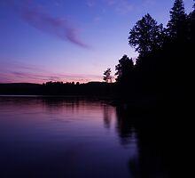 night at the lake by Daniel MacGibbon