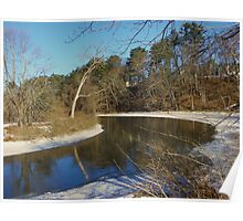 Near the old Grist Mill in Yarmouth, ME Poster