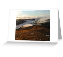 Late December Sun in the Highlands Greeting Card