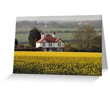 Spring in the East Yorkshire Wolds Greeting Card
