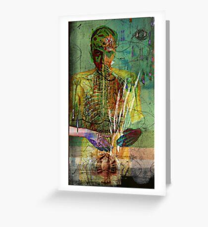 selfportrait in vanity all is vanity Greeting Card
