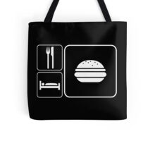Food Sleep Cheeseburgers Tote Bag