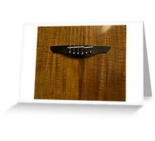Australian Blackwood Guitar Grain Greeting Card