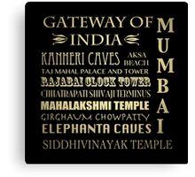 Mumbai Famous Landmarks Canvas Print