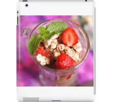 strawberry dessert iPad Case/Skin