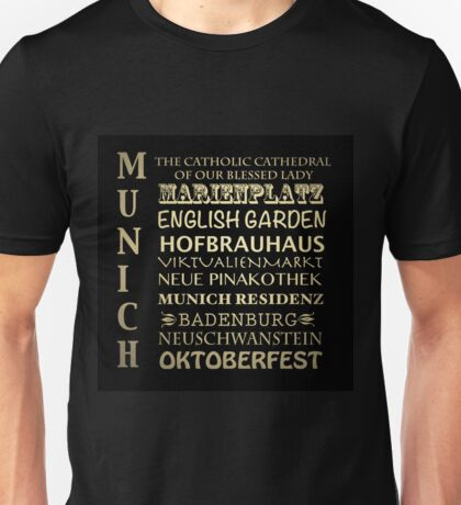 Munich Famous Landmarks Unisex T-Shirt