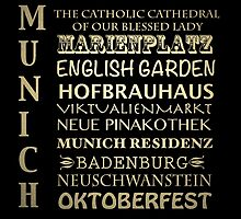 Munich Famous Landmarks by Patricia Lintner