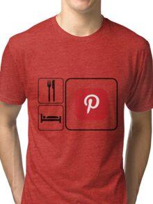 Food Sleep Pinterest Tri-blend T-Shirt