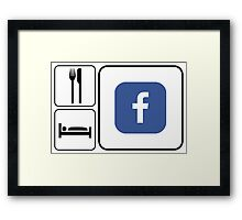 Food Sleep Facebook Framed Print