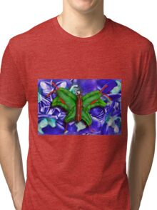 Chop Sticks and Fingers Butterfly Tri-blend T-Shirt