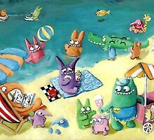 Monster Summer Time on the Beach by colonelle