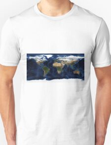 Map Of The World - A view of the Earth T-Shirt