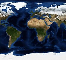 Map Of The World - A view of the Earth by verypeculiar