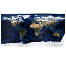 Map Of The World - A view of the Earth Poster