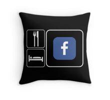 Food Sleep Facebook Throw Pillow
