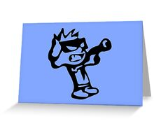 Spiff's Death Ray (Blue) Greeting Card