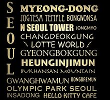 Seoul Famous Landmarks by Patricia Lintner