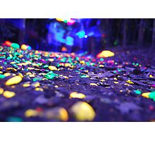 Neon forest Photographic Print