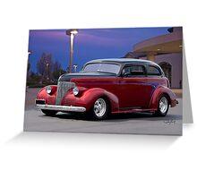 1939 Chevrolet 'Custom' Sedan Greeting Card