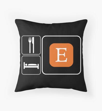 Food Sleep Etsy Throw Pillow
