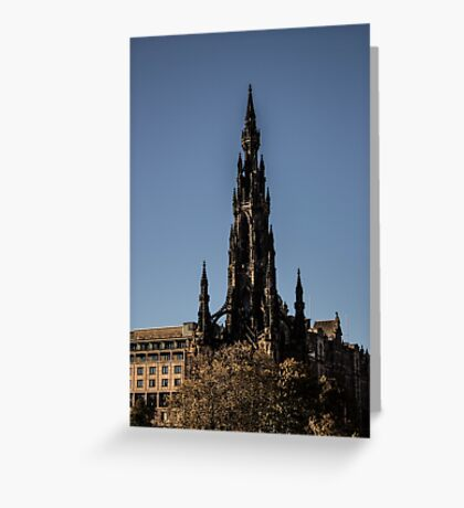 Scott Monument - Neo Gothic Greeting Card