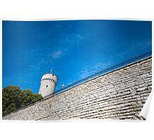Fortress Tower in Tallinn Estonia Poster
