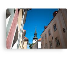 St. Nicholas Church Steeple Tallinn Estonia Canvas Print