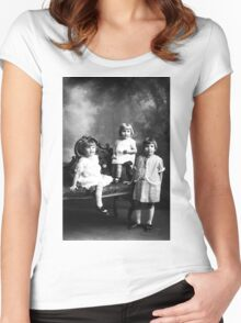 DOROTHY MAE DELBERTA AND LEORA ALBEE Women's Fitted Scoop T-Shirt
