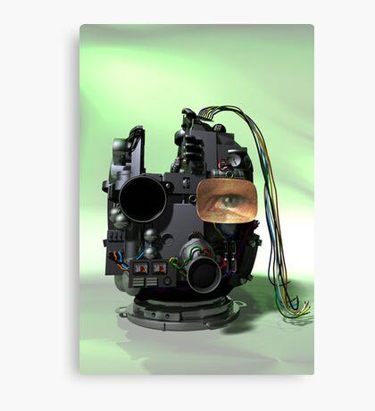 Abstract Robot Head Canvas Print